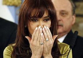 La Presidenta de Argentina emocionada con un nene con síndrome de Down