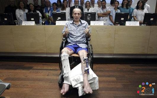 El Hospital La Paz realiza con éxito un complejo reimplante de pierna