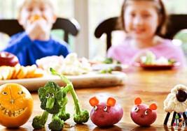 Alimentación vegetariana y los niños