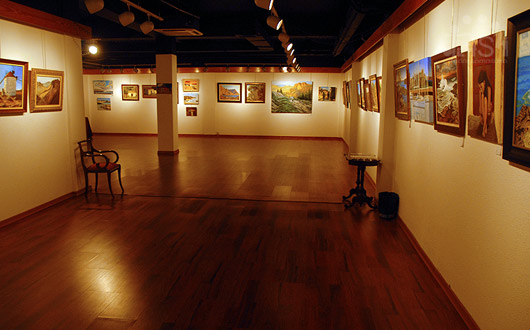 Abierta en la Sala Néstor la exposición de acuarelas a beneficio de la Asociación Síndrome de Down de Las Palmas