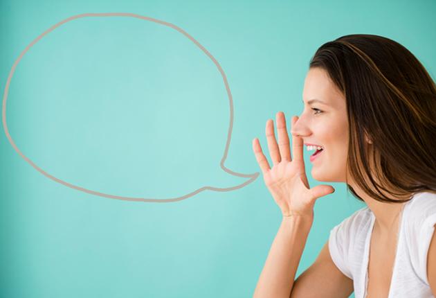 Mujer hablando