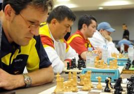 Ocho ajedrecistas invidentes participan en el III Open Internacional de Ajedrez