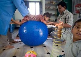 Una nueva oportunidad para los niños con parálisis cerebral de Anantapur