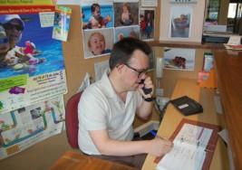 Personas con síndrome de Down participan este martes en una jornada para aprender a utilizar las nuevas tecnologías