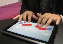 Teclado en Braille para usuarios ciegos en el iPad