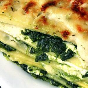 Lunes sin carene: Lasaña de espinacas, receta vegetariana fácil