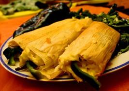Lunes sin carne: Tamales de queso y rajas
