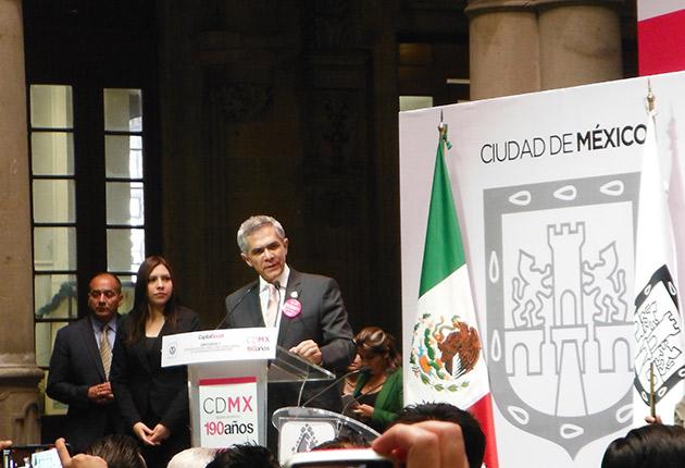 Jefe de Gobierno del Distrito Federal Dr. Miguel Ángel Mancera