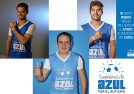 Futbolistas participan en campaña a favor de la concienciación del autismo