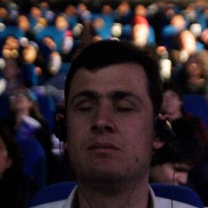Persona ciega en el cine