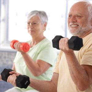 Pareja haciendo ejercicio