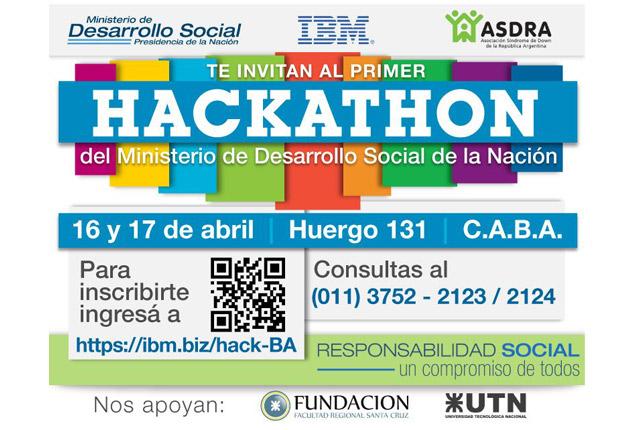 Flyer de Hackatón por la inclusión