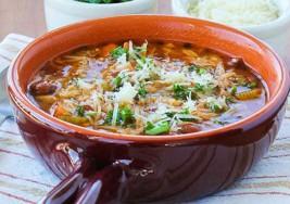 Lunes sin carne: Sopa vegetariana con pasta integral de cocción lenta