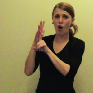 Chica sorda rapeando.