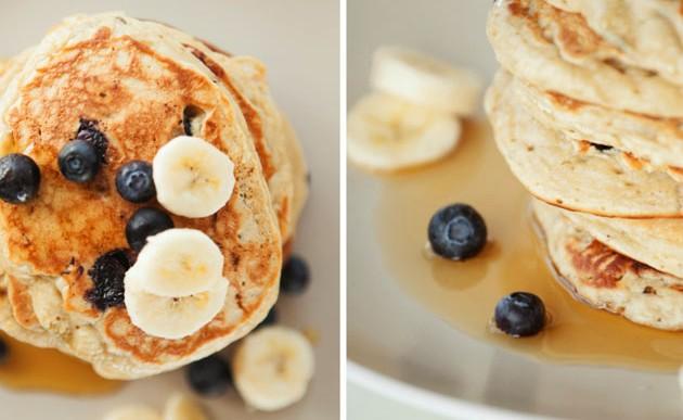 Lo dulce de la vida: pancakes de plátano bajos en calorías