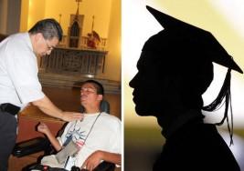 """A pesar de su parálisis cerebral se graduará en """"Criminología"""" de la UTA"""