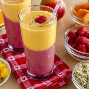 Batidos de frutas con fibras.