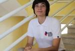 La artista María Batlle en su primer día como estudiante de la Escuela Nacional para Sordos..