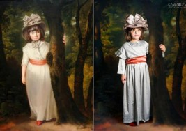 Niños con síndrome de down recrean famosas pinturas