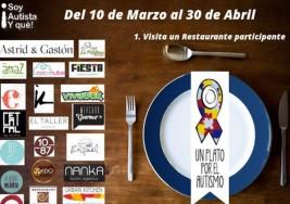 Un plato por el autismo: 30 restaurantes se unen en noble campaña