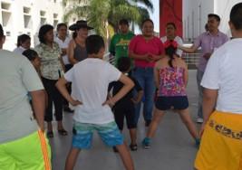 Realizan niños y niñas con Síndrome de Down acondicionamiento físico en Leyes de Reforma