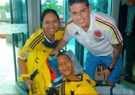 Niño con parálisis cerebral cumplió su sueño y conoció a James Rodríguez