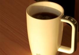 Taza con sensor de volumen para personas ciegas