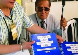 Club de lectura de ciegos dará dos talleres en la Feria del Libro
