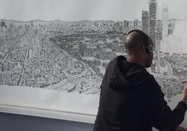 Este artista que padece de autismo dibujó Ciudad de México de memoria