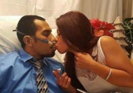 Decidió cumplir el último deseo de su novia y se casaron en el hospital. 36 hora después murió