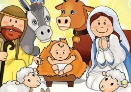 Nacimiento del niño Jesús. Cuento de Navidad
