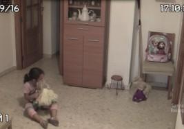 Padre instala cámaras por que su hija le dijo que algo la molestaba; lo que graban es escalofriante