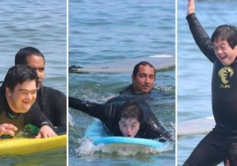Escuela de surf integra a personas con síndrome de Down