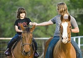 Paseos a caballo para tratar el autismo