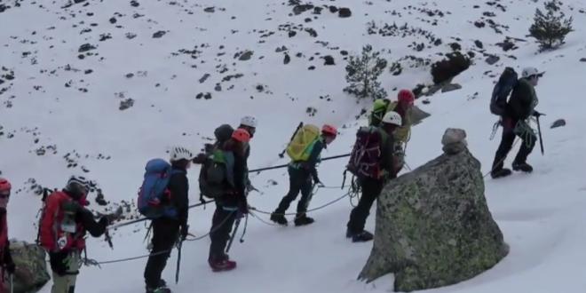 Cinco montañeros ciegos y con discapacidad visual en los Alpes Escandinavos