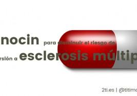 Minocin para disminuir el riesgo de conversión a esclerosis múltiple