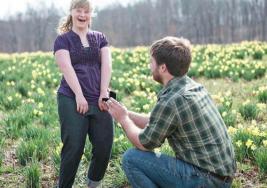 """La emotiva """"propuesta de casamiento"""" a una joven con síndrome de Down"""