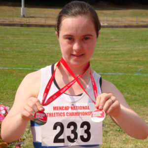 Chica con síndrome de Down