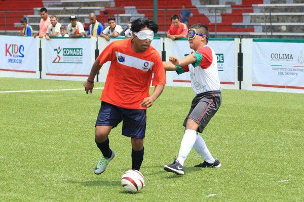 Puebla es de oro en futbol para ciegos de Paralimpiada Nacional