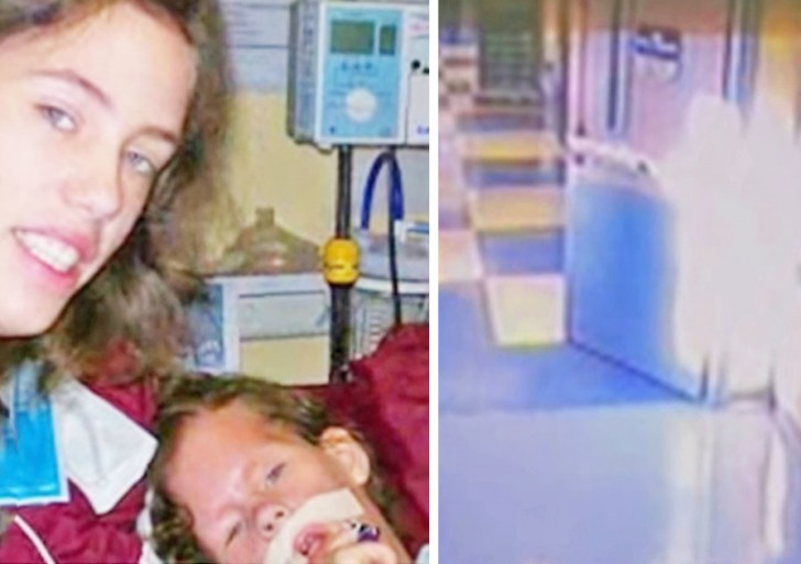 Cámaras de seguridad de hospital capturan una extraña imagen junto a la puerta de niña que iba a morir; lo que sucede luego es increíble