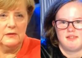 La crucial pregunta de una joven con síndrome de Down a Angela Merkel