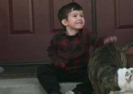 La amistad especial de Jason, un niño con parálisis cerebral y su perro Luca