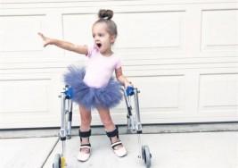 Niña con parálisis cerebral demuestra que todos los obstáculos se pueden vencer bailando