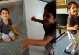 VIDEO: Tiene parálisis cerebral y a los 5 años pudo dar sus primeros pasos