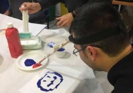 Nueve presos de TGN participan en un taller con personas con parálisis cerebral