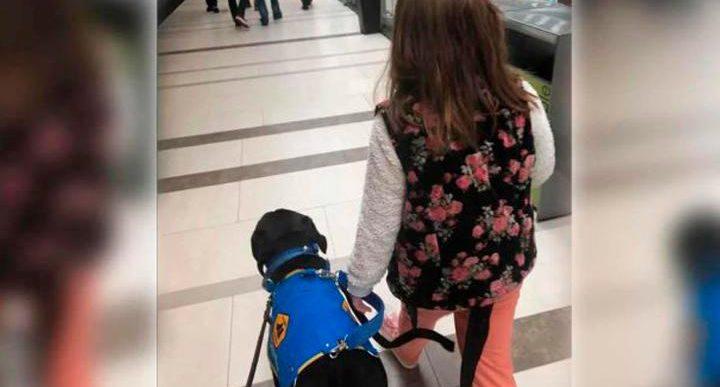 Restaurante expulsa a niña con autismo que ingresó con su perro guía