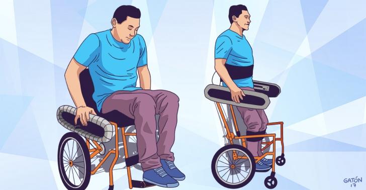 La silla de ruedas que permite ponerse de pie sin ayuda