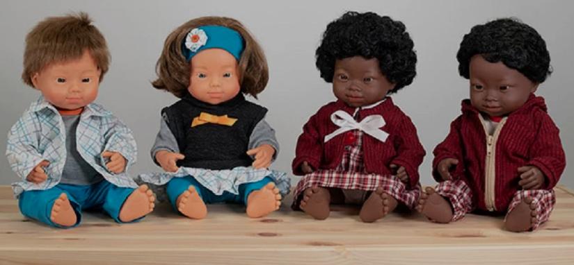 Una colección de muñecos con Síndrome de Down en diferentes razas, elegida Mejor Juguete del 2020